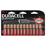 Duracell Quantum Batteries, Alkaline, Hi-Density Core, AA, 12 batteries