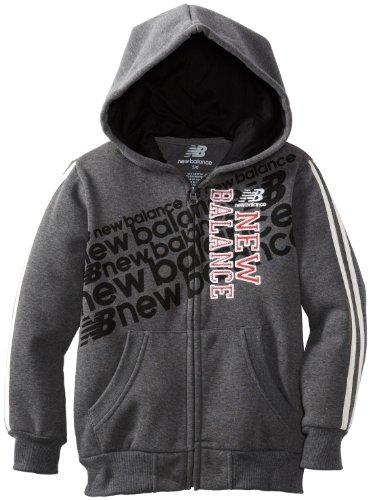 New Balance Little Boys' Fleece Hooded Jacket, Classic Navy Heather, 2T front-1015792