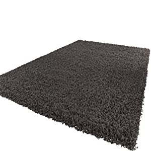 Shaggy Rug High Pile Long Pile Modern Carpet Uni Anthracite from PHC