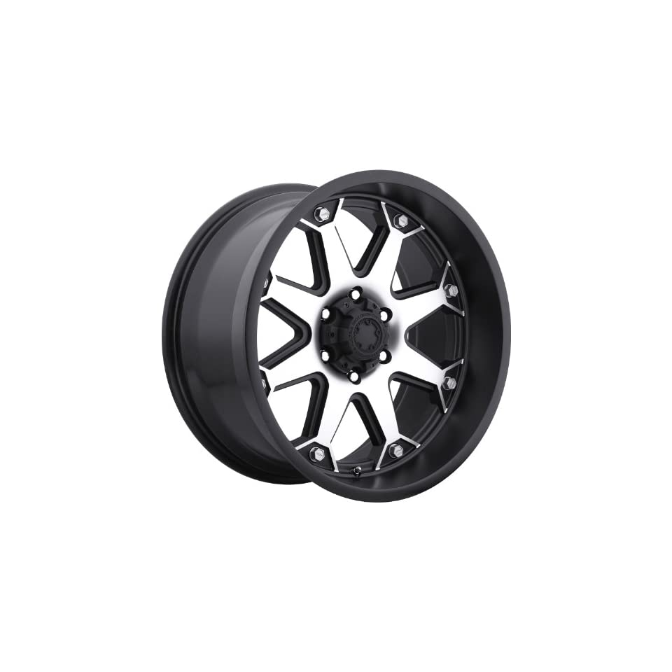 Ultra Bolt 17 Machined Black Wheel / Rim 8x6.5 with a 20mm Offset and a 125 Hub Bore. Partnumber 198 7882U