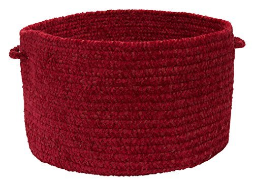 Colonial Mills Simple Chenille Utility Basket, 18 by 12-Inch, Sangria by Colonial Mills