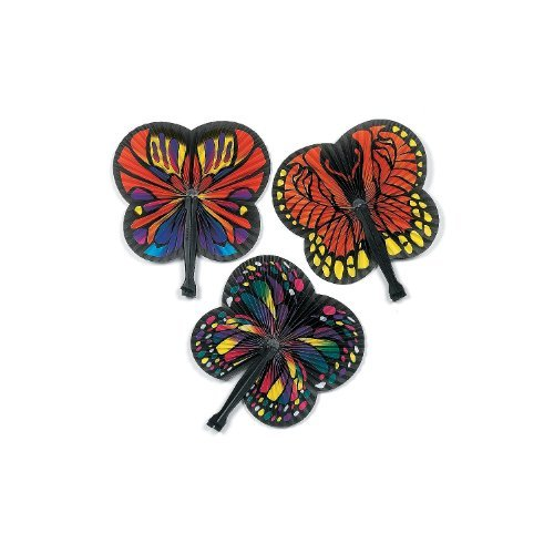 Butterfly Folding Fans (1 dz) (Butterfly Hand Fan compare prices)