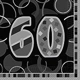 Unique Party Glitz 60th Birthday Paper Napkins (Pack of 16) - Parent