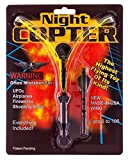 Night Copter - Light up Flying Helicopter Slingshot Toy w/LED - Highest Flying UFO Toy of Its Kind - Long Lasting Fun for Kids Ages 6 to 106 - Durable, Reusable, - USA-made Wing - Batteries Included, No Assembly, Bigger and Better than the Rocket Copter