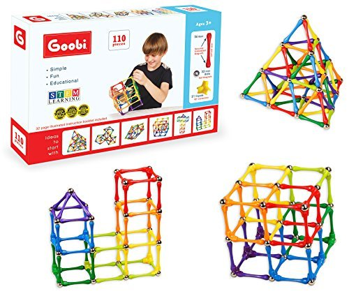 goobi-110-piece-construction-set-with-instruction-booklet-stem-learning-assorted-rainbow-colors