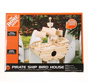 The home depot pirate ship bird house patio for Home depot wedding gift registry