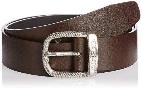 Diesel Uomo Dark Brown BAWRE Faux Leather Cintura-Size 95 cm