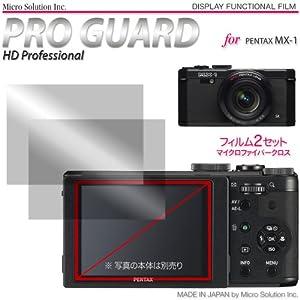 Micro Solution Digital Camera Anti-Reflection Anti-Fingerprint HD Display Protection Film (Pro Guard ARSH) for Pentax MX-1 // PGARSHPEMX-A