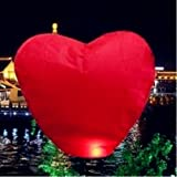 MicroMall(TM) 10 Red Heart Sky Lanterns