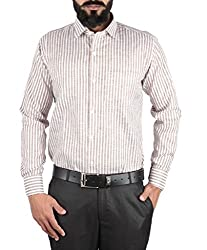 McHenry brown striped shirt