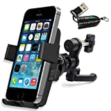 ChargerCity 360º Rotation Simple Lock Car / Vehicle Air Vent Mount with Mega Smartphone Holder for Apple iPhone 6 5 5S 5C, Samsung Galaxy S5 S4 S3, LG Nexus 4 5 G2, HTC One, Motorola Moto X G Droid and Nokia Lumia 1020 *Include Free ChargerCity MicroSD