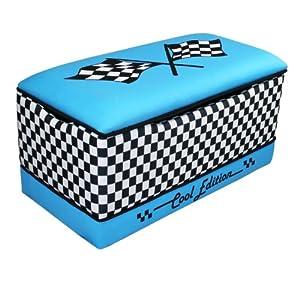 Newco International Race Cars Toy Box, Blue