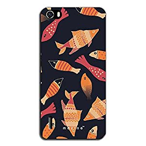 Mozine Fish Pattern printed mobile back cover for Huawei Honor 6
