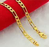 Followmoon Cool 18K Gold Plated Necklace Chain Link For Mens Jewelry
