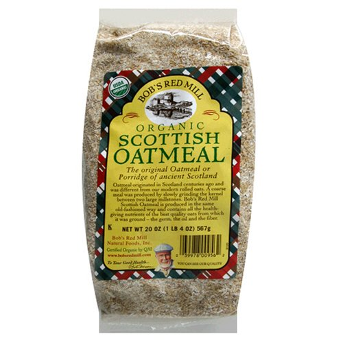 Bob's Red Mill Organic Scottish Oatmeal, 20-Ounce Bags (Pack of 4)