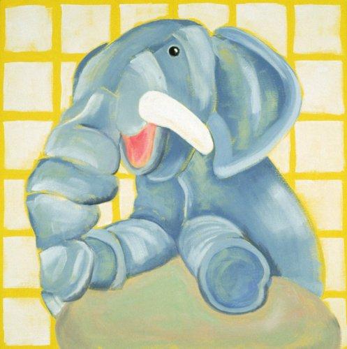 """Ellema the Elephant - 18"""" X 18"""" Canvas Wall Art"""