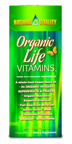 Natural Vitality Organic Life Vitamin Nutri 30 Packs, 1 Fl,Oz