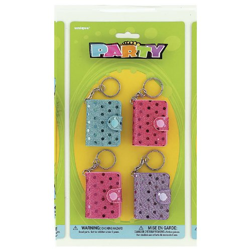 Sequin Notebook Keychains (4 count)