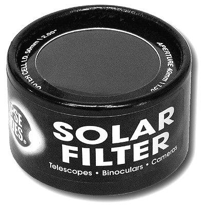 "Solar Filter 50Mm/2.00"" - Black Polymer - Binoculars, Telescopes And Cameras - Eclipse Viewing, Sunspots, Solar Flares"