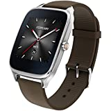 """ASUS 新型 Android Wear スマートウォッチ「ZenWatch 2」1.65"""", Silver case with Brown rubber watchband [並行輸入品]"""