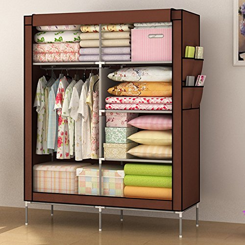 lagute-clothes-wardrobe-portable-doule-storage-closet-organizer-non-woven-curtain-with-shoe-rack-she