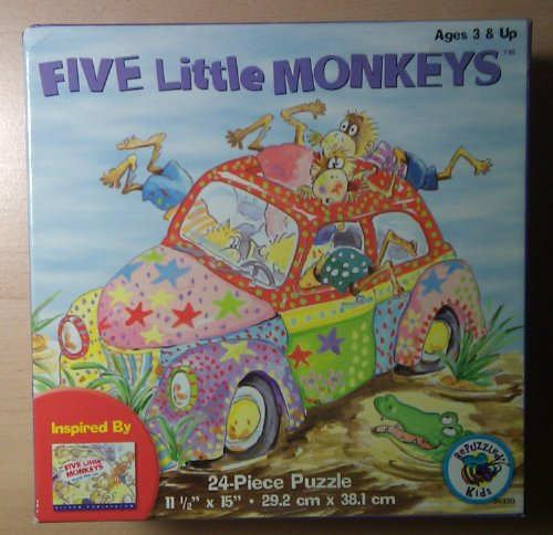 BePuzzled Kids - Five Little Monkeys 24piece Age 3+ - 1