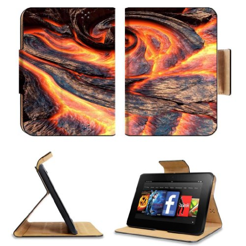 Melting Red Hot Lava Nature Scenery Amazon Kindle Fire HD 7 [2012 Version Only September 14, 2012] Flip Case Stand Magnetic Cover Open Ports Customized Made to Order Support Ready Premium Deluxe Pu Leather 7 11/16 Inch (195mm) X 5 11/16 Inch (145mm) X 11/16 Inch (17mm) MSD Professional Kindle_fire Cases Kindle7 Accessories Build Model Graphic Background Covers Designed Model Folio Sleeve HD Template Designed Wallpaper Photo Jacket Luxury Protector