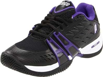 Prince Women's T24 W Tennis Shoe,Black/Purple,6 B US