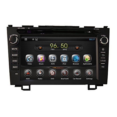 For Honda CRV 2006-2011 Android 4.2.2 Dual Core system multi-Touch Screen Car DVD GPS Navigation Build-In Bluetooth,Radio with RDS,Analog TV, AUX&USB, iPhone/iPod Controls, Steering Wheel Control, Free Map joyous j 2823a 6 2 android 4 2 2 dual core car dvd player for honda city crv fit more black
