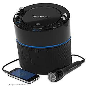 Electrohome Karaoke Machine Speaker System CD+G Player with 2 Microphone Connections, Singing Music & AUX Input for Smartphone, Tablet, & MP3 Players (EAKAR300)
