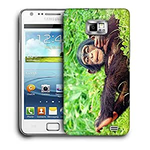 Snoogg Chimpanese Printed Protective Phone Back Case Cover For Samsung Galaxy S2 / S II