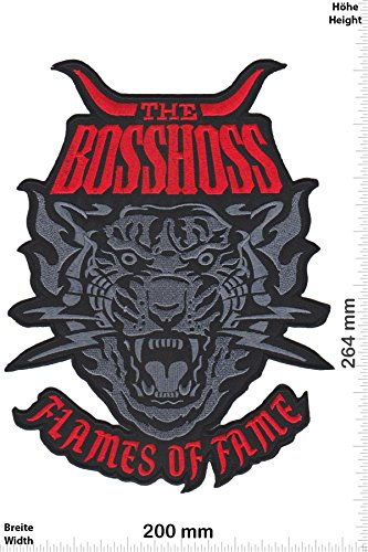 Patch - The BOSSHOSS - Flames of Fame - red- 26cm - BIG - Bigpatch - Musica - Bosshoss- toppa - applicazione - Ricamato termo-adesivo - Patch""