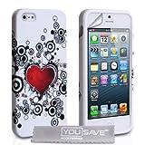 "iPhone 5 / 5S Tasche Silikon Herz H�lle - Rotvon ""Yousave Accessories�"""