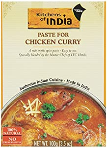 Kitchens Of India Curry Paste For Chicken Curry, 3.5-Ounce Boxes (Pack of 6)