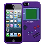 MiniSuit Game Boy Style Case for Apple iPhone 5 - TPU Silicone Skin Cover (Purple)