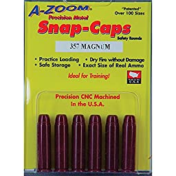 A-Zoom 357 Magnum Precision Snap Caps (6 Pack)