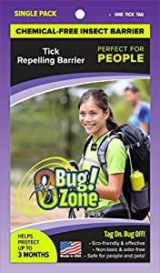0Bug!Zone 1 Piece Tick Barrier Tag for People