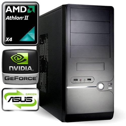 computerwerk - Gaming Komplett PC Moncton B - 4x 3.0 GHz AMD Athlon II X4 640, ASUS M5A78L-M LX , 4 GB [1x 4GB] DDR3-1333, 500 GB S-ATAIII, 22-fach Dual Layer DVD±RW, 1024 MB GeForce GT610, Starter 4, Silent SL 500 W