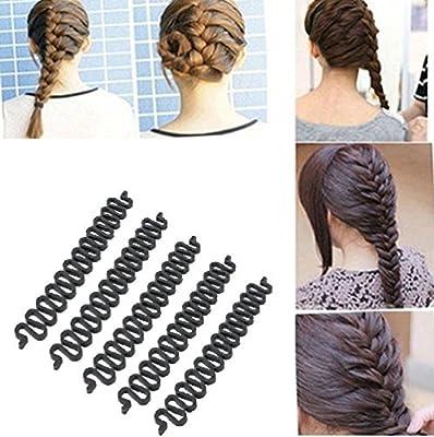 OPCC 5PCS Fashion French Hair Styling Clip Stick Bun Maker Braid Tool Hair Accessories Twist Plait Hair Braiding Tool