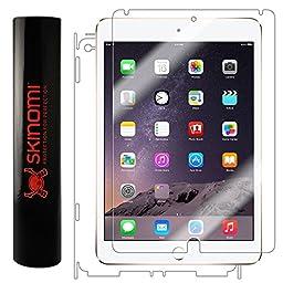 iPad Air 2 Screen Protector + Full Body (6th Gen,2014), Skinomi TechSkin Full Coverage Skin + Screen Protector for iPad Air 2 Front & Back Clear HD Film
