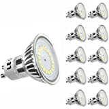 LE 3.5W MR16 GU10 LED Bulbs, 50W Halogen Bulbs Equivalent, 300lm, Daylight White, 6000K, 120°Beam Angle, Recessed Lighting, Track Lighting, LED Light Bulbs, Pack of 10 Units