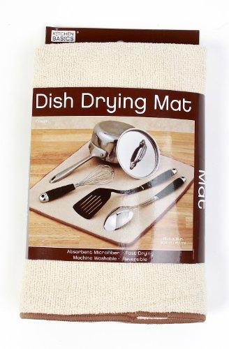 Kitchen Basics 429100 Microfiber Dish Drying Mat, Cream front-601019