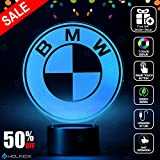 BMW Lighting Decor Gadget Lamp Awesome Gift + FREE 2 BONUSES, Sticker Decor + MULTI PURPOSE CREDIT CARD = Best Set (MT032) By Holinox