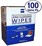 Zeiss Pre-Moistened Lens Cleaning Wipes - Cleans Bacteria, Germs and without Streaks for Eyeglasses,Tablet, Cell Phone, Laptop,Sunglassesand Any Other Delicate Surface (100CT)