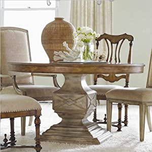 Cute Hooker Furniture Sanctuary in Round Pedestal Dining Table in Dune and Beach