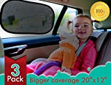kinder Fluff Car window shade - Extra Large - 3 Pack