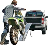 89 Single Folding Loading Ramp for Off-Road Motocross, Enduro and Dirt Bikes
