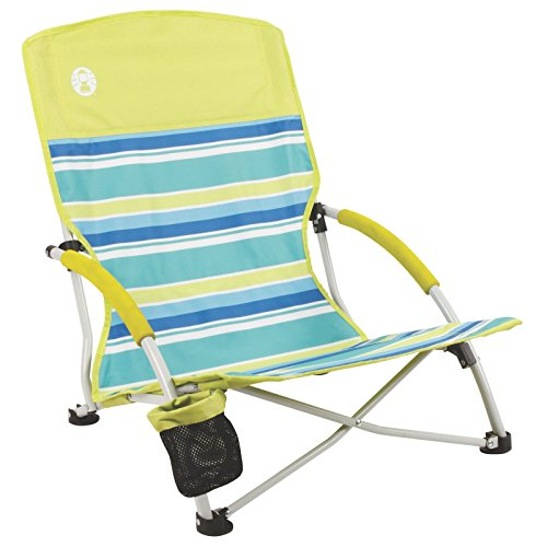 Coleman Beach Deluxe Low Sling Chair, Citrus (Low Profile Beach Chair compare prices)