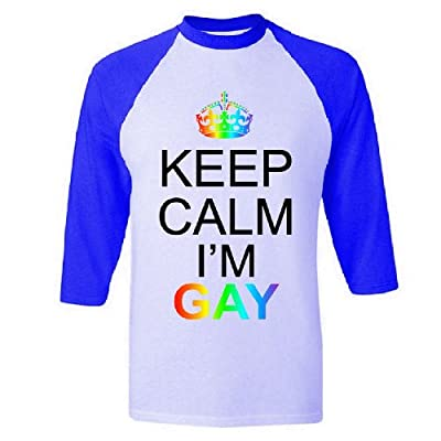 Keep Calm I'm Gay Raglan Baseball T-Shirt