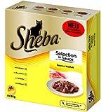 Sheba Katzenfutter 8er Multipack Selection in Sauce Vielfalt, 8 x 85g, 8er Pack (64 x 85 g)